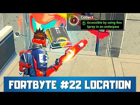 Fortbyte #22 Location Fortnite - Accessible by Using Rox Spray in an Underpass