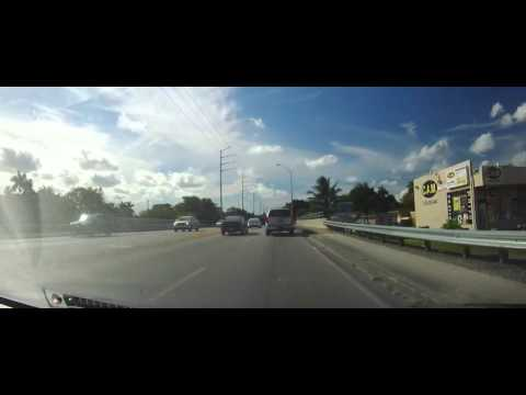 Driving from North Miami in the ghetto to Weston, Florida in Broward County