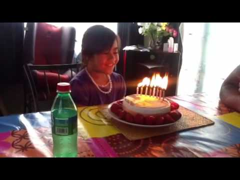 Jessica's 8th birthday.