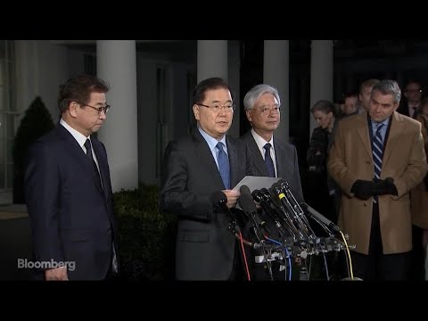 South Korea's Chung Eui-Yong Says Trump Has Agreed to Meet With Kim Jong Un