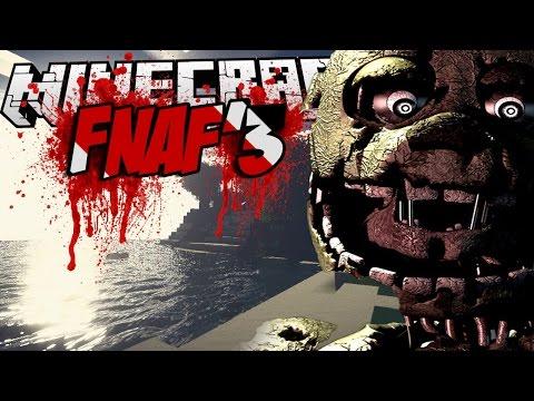 Minecraft mody! FIVE NIGHTS AT FREDDY'S 3!   SPRINGTRAP?