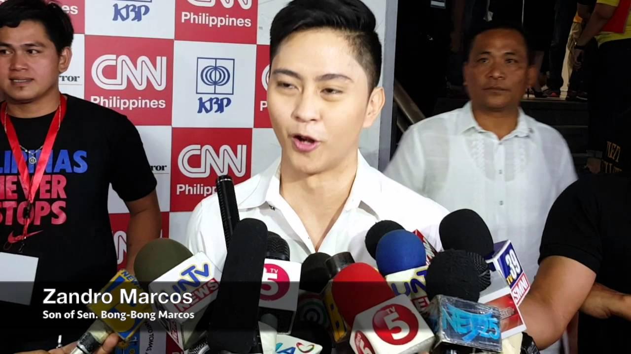 Zandro Marcos: My father will not resort to mudslinging - YouTube