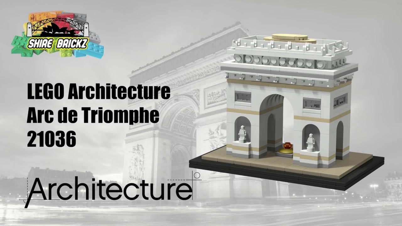 lego architecture 21036 arc de triomphe youtube. Black Bedroom Furniture Sets. Home Design Ideas