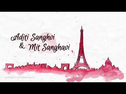 Aditi & Mit Save the Date | Paris Theme