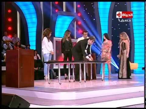 الحياة حلوة - الساحر اللبنانى جينو يقطع زوجته نصفين بمساعدة صافيناز ورزان و محمود الليثى وامينة