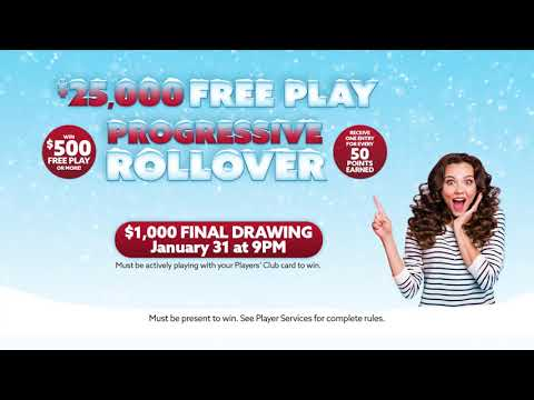 Catfish Bend Casino January 2020 $25,000 Free Play Rollover