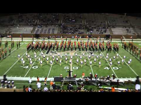 Seven Lakes High School Band and Sapphires - Morton Ranch Halftime 10/15/2011