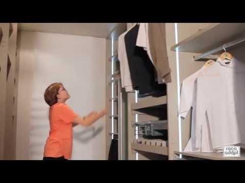 CASA ADAPT Barra abatible interior armario  YouTube