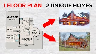 Which House Would You Pick? Same Floor Plan, Different Styles!