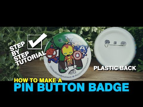 How To Make A Plastic Pin Button Badge