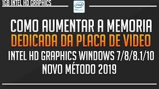 Como Aumentar a Memoria Dedicada Da Placa de vídeo Intel Graphics Até 4GB ‹‹ GAMER TUTOR ››