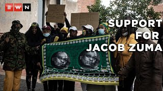 The state capture commission is asking the Constitutional Court to find Jacob Zuma guilty of contempt of court, and if found guilty, to jail him for two years, where a small group of supporters for the former president gathered.  #Zuma #Concourt #StateCapture