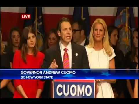 Gov. Cuomo gives his victory speech