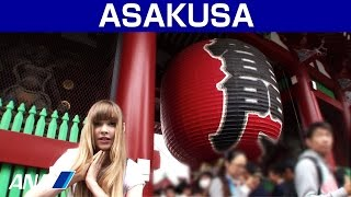 Canadian popular YouTuber Taylor is showing ASAKUSA. Experience tra...