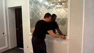 видео Зеркальное панно в интерьере