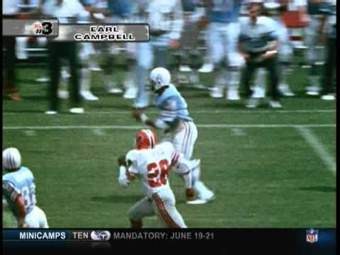 Earl Campbell #3 Power Back of all time.