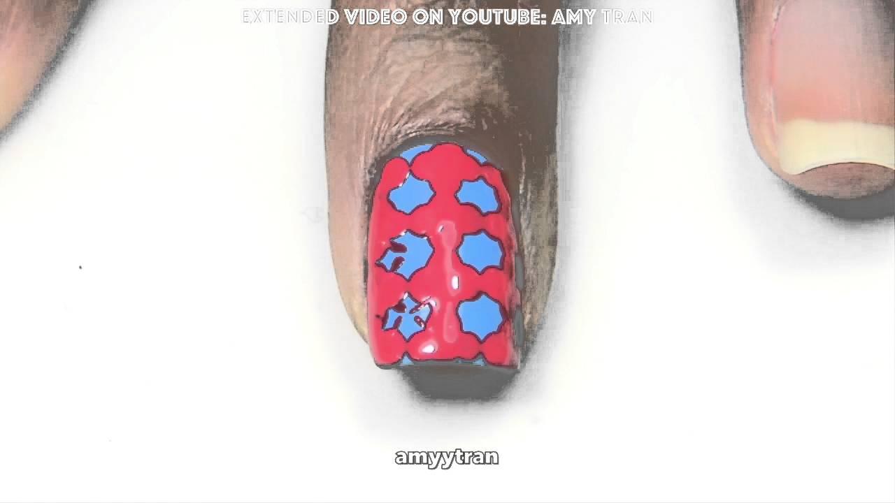 Nail Art Tutorial Cute Quatrefoil Youtube