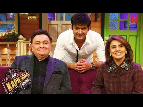 "Rishi Kapoor and Neetu Singh on ""The Kapil Sharma Show""!😄😃"