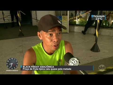 Black Friday no Pará tem fila por desconto no açaí | SBT Brasil (24/11/17)
