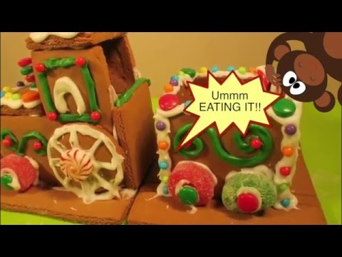 North Pole Gingerbread Train - Unbox And Build Your Own!