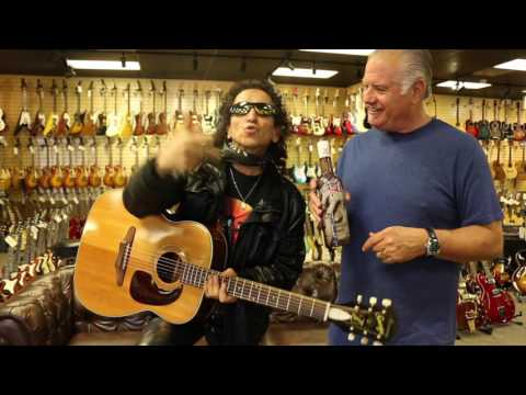 Alex Lora from the rock band El Tri stops by Norman's Rare Guitars