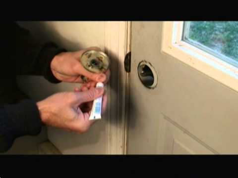 How To Repair A Door Lock Video Youtube