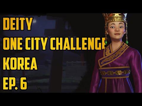 Ep. 6 One City Challenge - Korea - Deity - Civ 6 Gathering Storm