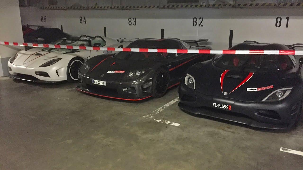 Insane Supercar Garage Koenigsegg Veyron Laferrari