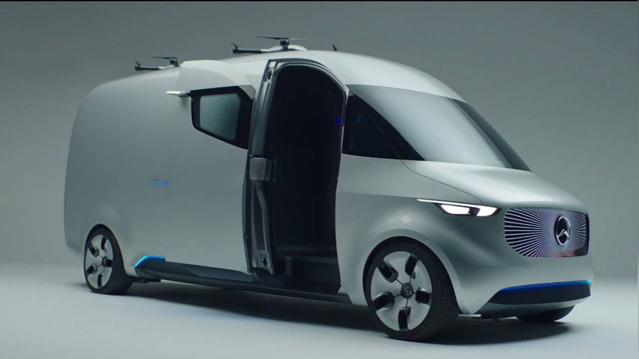 Mercedes Sprinter Van >> Mercedes-Benz Vision Van Drive and Design - YouTube