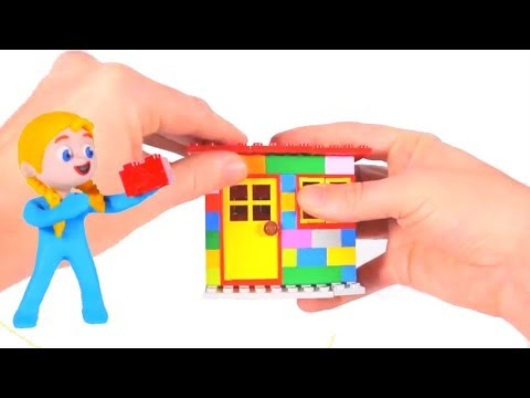 KIDS PLAYING WITH CONSTRUCTION TOYS BUILD AN AWESOME HOUSE ❤ SUPERHERO PLAY DOH CARTOONS FOR KIDS