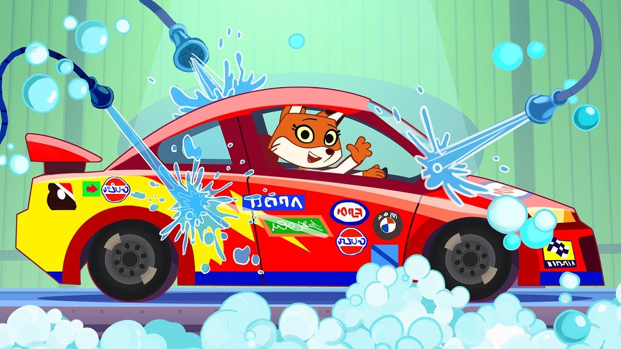 nascar car wash cartoon funny race car carwash trucks video for rh youtube com car wash cartoon fish car wash cartoon video