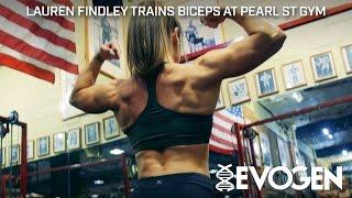 Team Evogen Athlete Lauren Findley Trains Biceps at Pearl St Gym