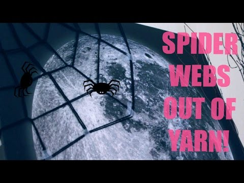 DIY Spider Webs out of YARN! | 12 Days of Halloween 2014