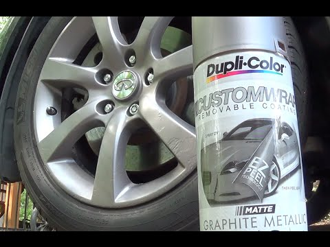 How To Dupli Color Plastic Spray Your Car Wheel Rims