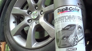 How To: Dupli-Color Plastic Spray Your Car Wheel Rims