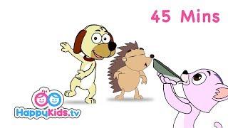 Dog, Cat, Rabbit | Pet Animal Songs | Rhymes For Kids, Children Babies | Jungle Beats - Happy Kids