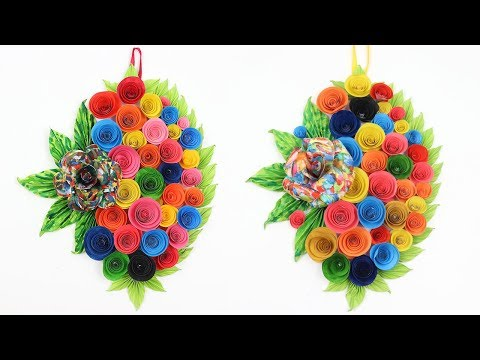 How to Make Easy Wall Hanging Room Decor Craft Ideas DIY Paper Flower Wall Decor for Home Decoration
