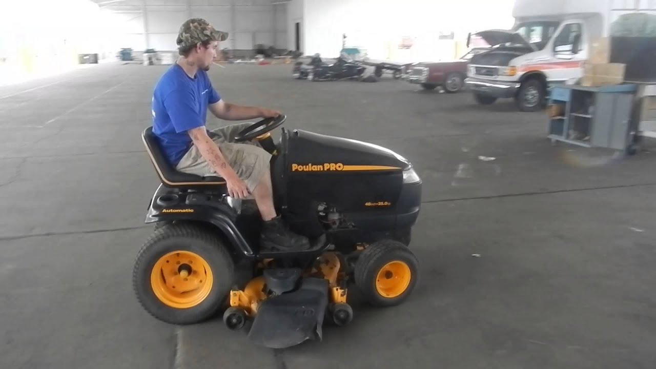 maxresdefault poulan pro riding mower youtube