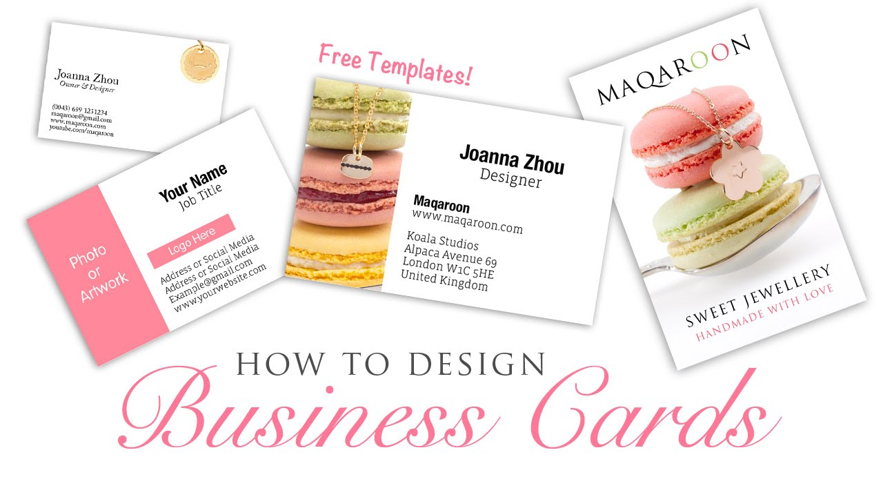 How To Design Business Cards - Graphic Design Photoshop Tutorial ...