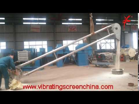 ZY tube chain conveyor transfer the powder