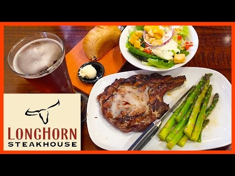 Outlaw Ribeye 18oz Steak - Longhorn Steakhouse - Orlando, Florida | KBDProductionsTV
