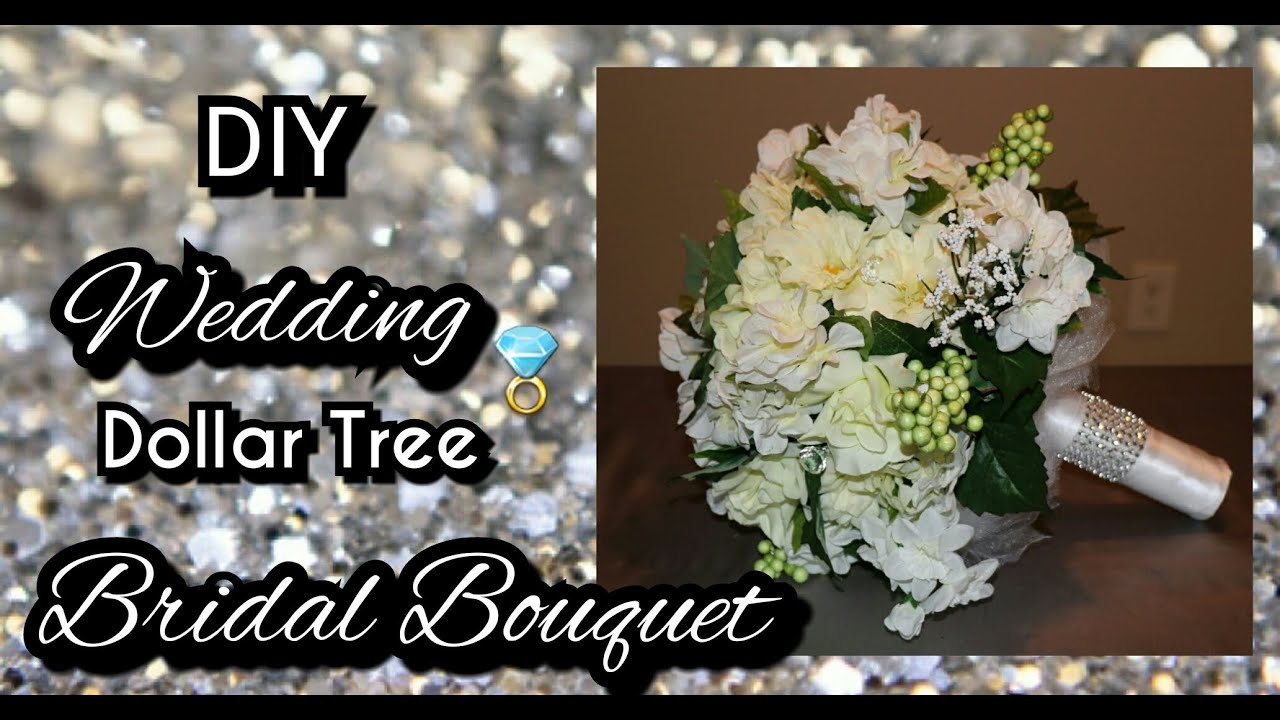 DIY DOLLAR TREE WEDDING BRIDAL BOUQUET | How to make a bridal ...