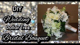 DIY DOLLAR TREE WEDDING BRIDAL BOUQUET   How to make a bridal bouquet tutorial