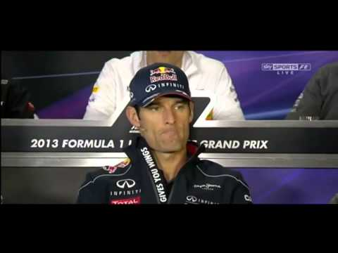 tJ13_TV presents China GP Drivers Press Conference - Mark Webber Interview Post Malaysian GP