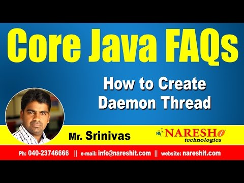 How to Create Daemon Thread | Core Java Interview Questions