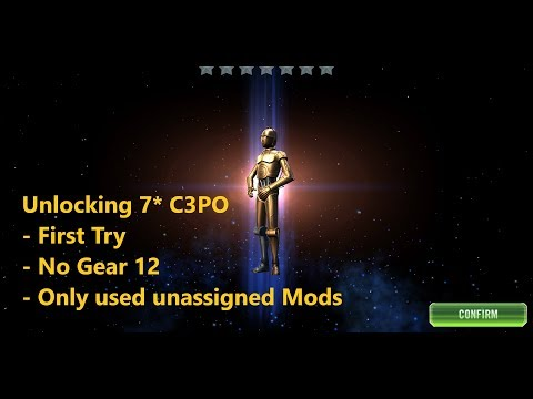 7* C3PO Unlock On First Try! - SWGOH