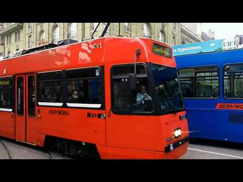 Travel  vintage electric tram Switzerland - The Bern– Part 1