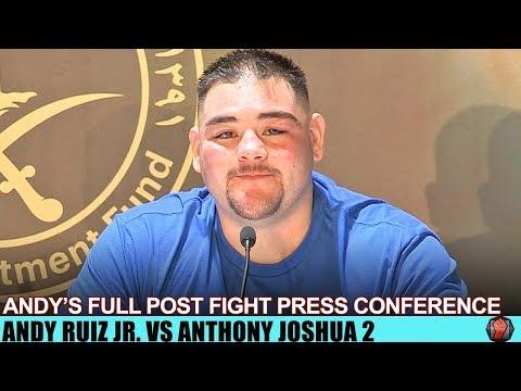 ANDY RUIZ SPEAKS ON LOSS IN FULL POST FIGHT PRESS CONFERENCE - RUIZ VS JOSHUA 2
