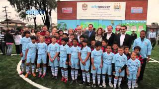 Boys & Girls Club of East LA unveil a new pitch gifted by the UAE Embassy in Washington, DC and MCFC