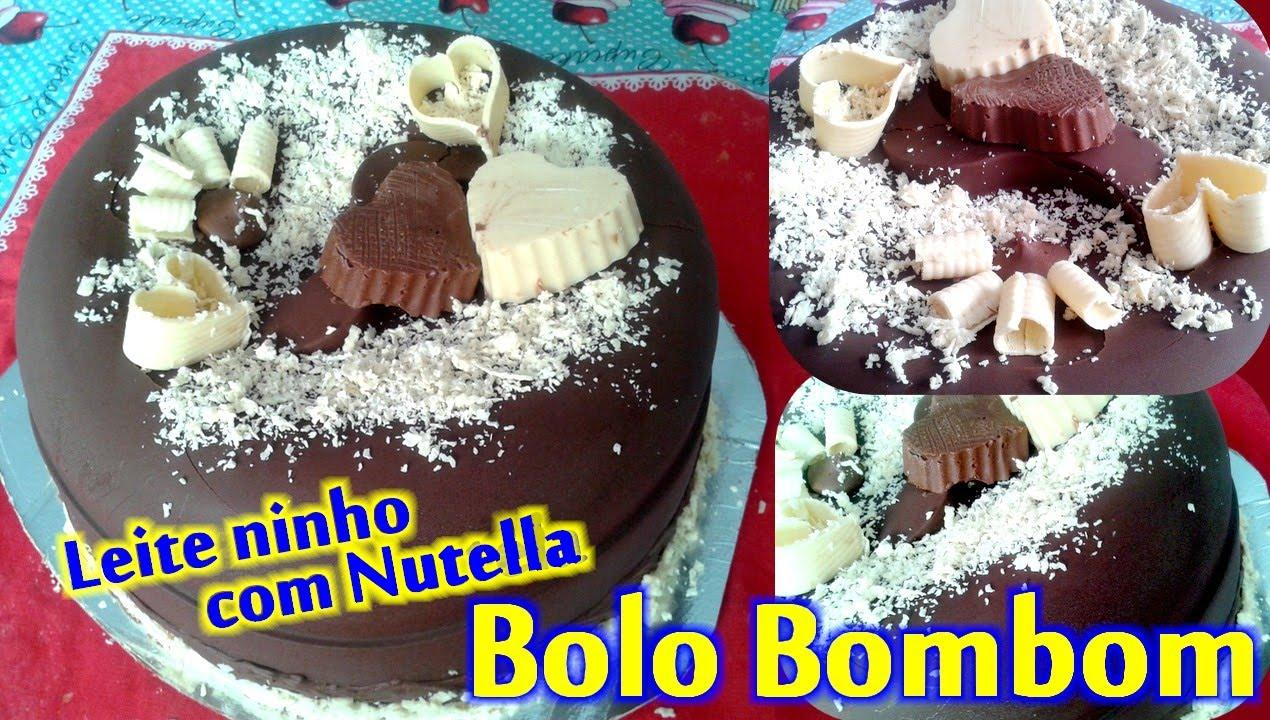 Favoritos Bolo bombom de leite ninho com Nutella - YouTube YU75
